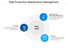 Total Productive Maintenance Management Ppt Powerpoint Presentation Summary Example Cpb