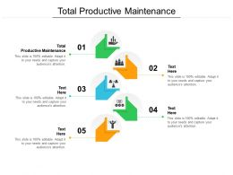 Total Productive Maintenance Ppt Powerpoint Presentation Pictures Slide Cpb