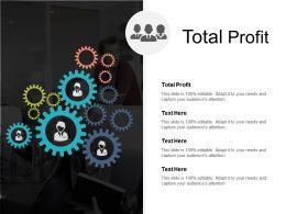 Total Profit Ppt Powerpoint Presentation Ideas Professional Cpb