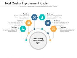 Total Quality Improvement Cycle Ppt Powerpoint Presentation Styles Professional Cpb