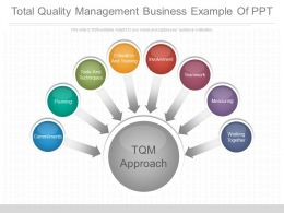 Total Quality Management Business Example Of Ppt