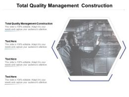 Total Quality Management Construction Ppt Powerpoint Presentation Professional Cpb