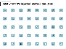 Total Quality Management Elements Icons Slide Threat Powerpoint Slides