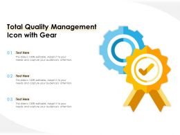 Total Quality Management Icon With Gear
