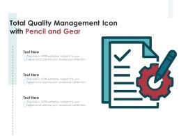 Total Quality Management Icon With Pencil And Gear
