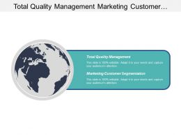 Total Quality Management Marketing Customer Segmentation Change Management Cpb