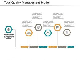 Total Quality Management Model Ppt Powerpoint Presentation Model Master Slide Cpb