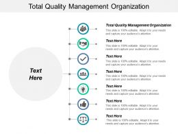 Total Quality Management Organization Ppt Powerpoint Presentation Infographic Template Example Cpb