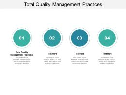 Total Quality Management Practices Ppt Powerpoint Presentation Portfolio Inspiration Cpb