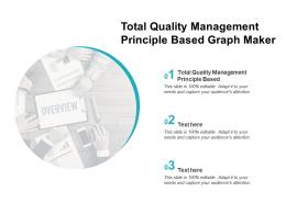 Total Quality Management Principle Based Ppt Powerpoint Presentation Layouts Cpb