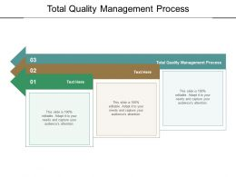 Total Quality Management Process Ppt Powerpoint Layouts Background Designs Cpb