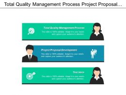Total Quality Management Process Project Proposal Development Value Stream Cpb