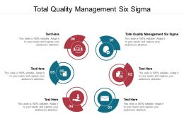 Total Quality Management Six Sigma Ppt Powerpoint Presentation Summary Objects Cpb