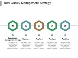 Total Quality Management Strategy Ppt Powerpoint Presentation Gallery Introduction Cpb