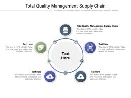 Total Quality Management Supply Chain Ppt Powerpoint Presentation Inspiration Cpb