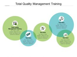 Total Quality Management Training Ppt Powerpoint Presentation File Cpb
