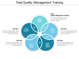 Total Quality Management Training Ppt Powerpoint Presentation Icon Maker Cpb