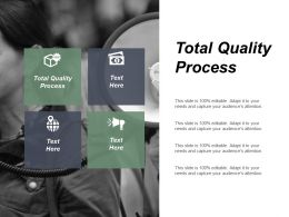 Total Quality Process Ppt Powerpoint Presentation Gallery Slide Download Cpb