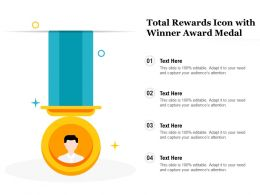 Total Rewards Icon With Winner Award Medal
