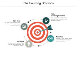 Total Sourcing Solutions Ppt Powerpoint Presentation Pictures Inspiration Cpb