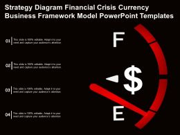 Touch Base With Our Strategy Diagram Financial Crisis Currency Business Framework Model Templates