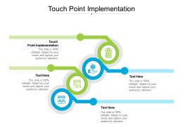 Touch Point Implementation Ppt Powerpoint Presentation Ideas Layouts Cpb