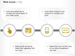 touch_screen_custom_coding_mobile_marketing_ppt_icons_graphics_Slide01