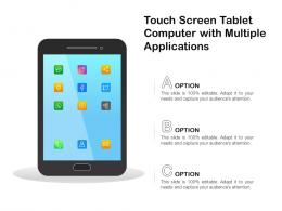 Touch Screen Tablet Computer With Multiple Applications