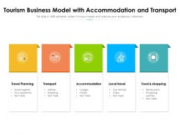Tourism Business Model With Accommodation And Transport
