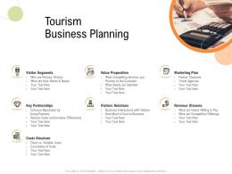 Tourism Business Planning Strategy For Hospitality Management Ppt Layouts Smartart