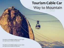 Tourism Cable Car Way To Mountain