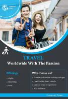Tourism Company Flyer Two Page Brochure Template