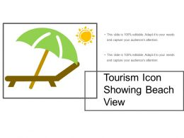 Tourism Icon Showing Beach View