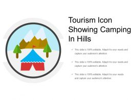 Tourism Icon Showing Camping In Hills