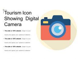 Tourism Icon Showing Digital Camera