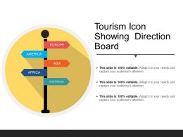Tourism Icon Showing Direction Board