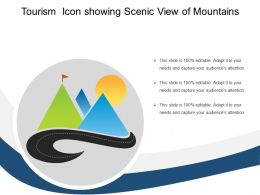 Tourism Icon Showing Scenic View Of Mountains