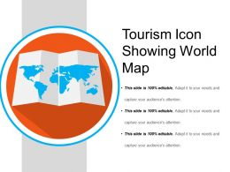 Tourism Icon Showing World Map