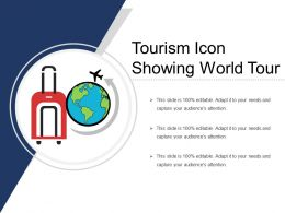 Tourism Icon Showing World Tour