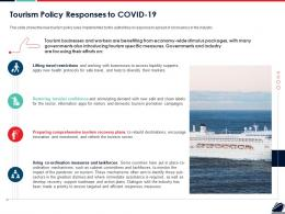 Tourism Policy Responses To COVID 19 Ppt Powerpoint Presentation Outline Infographics