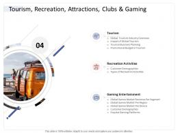 Tourism Recreation Attractions Clubs And Gaming Hospitality Industry Business Plan Ppt Demonstration