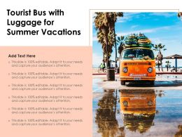 Tourist Bus With Luggage For Summer Vacations