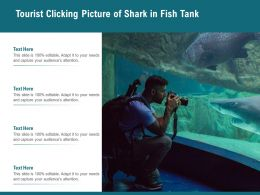 Tourist Clicking Picture Of Shark In Fish Tank
