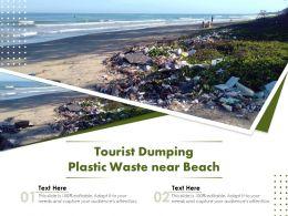 Tourist Dumping Plastic Waste Near Beach