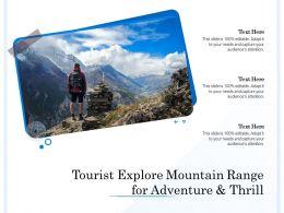 Tourist Explore Mountain Range For Adventure And Thrill