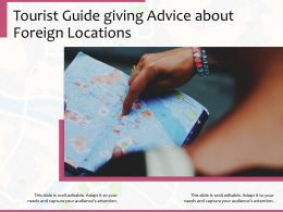 Tourist Guide Giving Advice About Foreign Locations