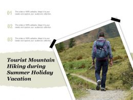 Tourist Mountain Hiking During Summer Holiday Vacation