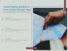 Tourist Taking Guidance From Guide Through Map