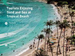 Tourists Enjoying Sand And Sea At Tropical Beach