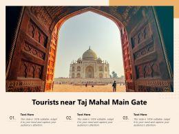 Tourists Near Taj Mahal Main Gate